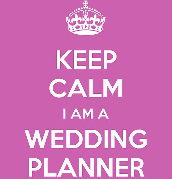 Dutch wedding planners motto: keep calm I am a wedding planner