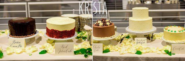 chocolate and cream wedding cakes