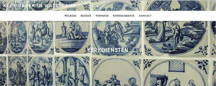 Relgieus huwelijk Delft blue tiles Kerk Broek in Waterland