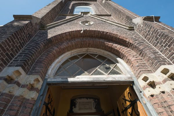 dutch church weddings restored church facade in Zaandijk Holland