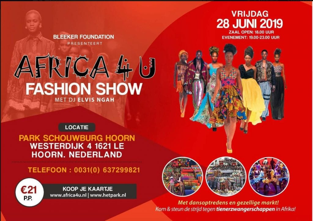 Africa4U Fashion show spoken word poetry