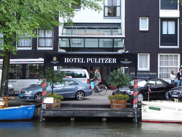 Waterside wedding  restaurants hotel near canal belt amsterdam
