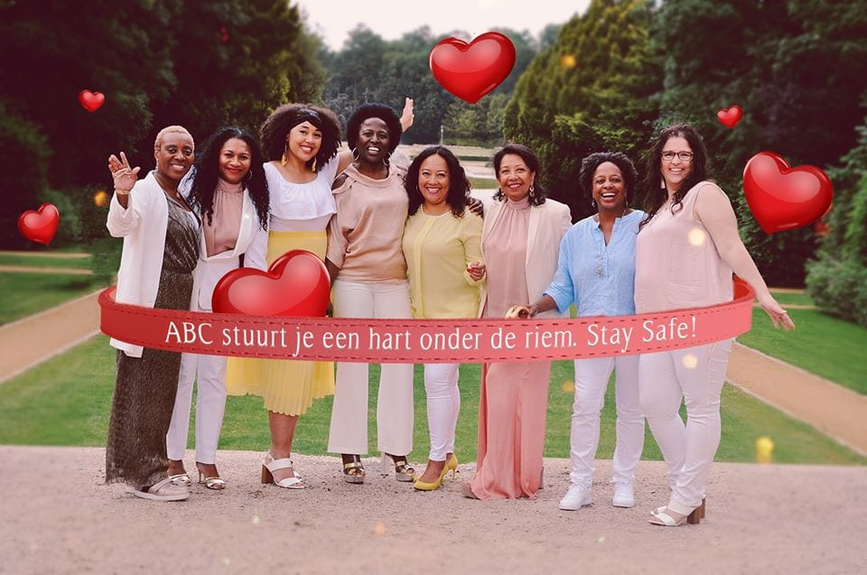 abc black gospel choir eight singers zanggroep wearing fashion forward outfits and laughinglaughing