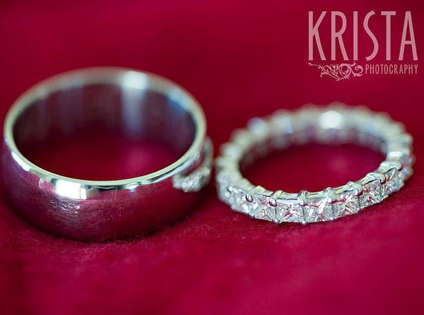 Evening micro wedding planning wedding bands for him and her