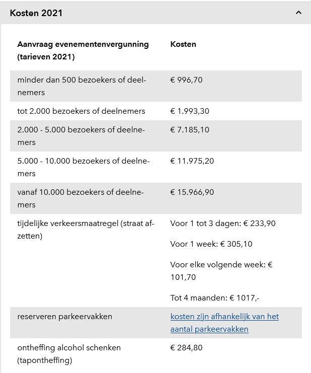 thuis trouwen vergunning prijzen grijs en wit tarievenlijst