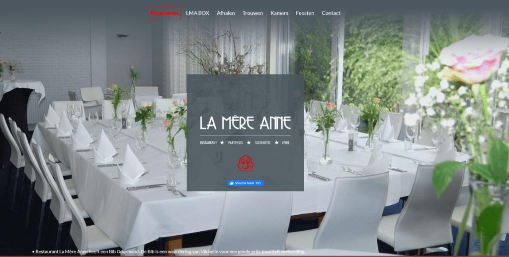 Wedding Restaurant Venue - La Mere Anne
