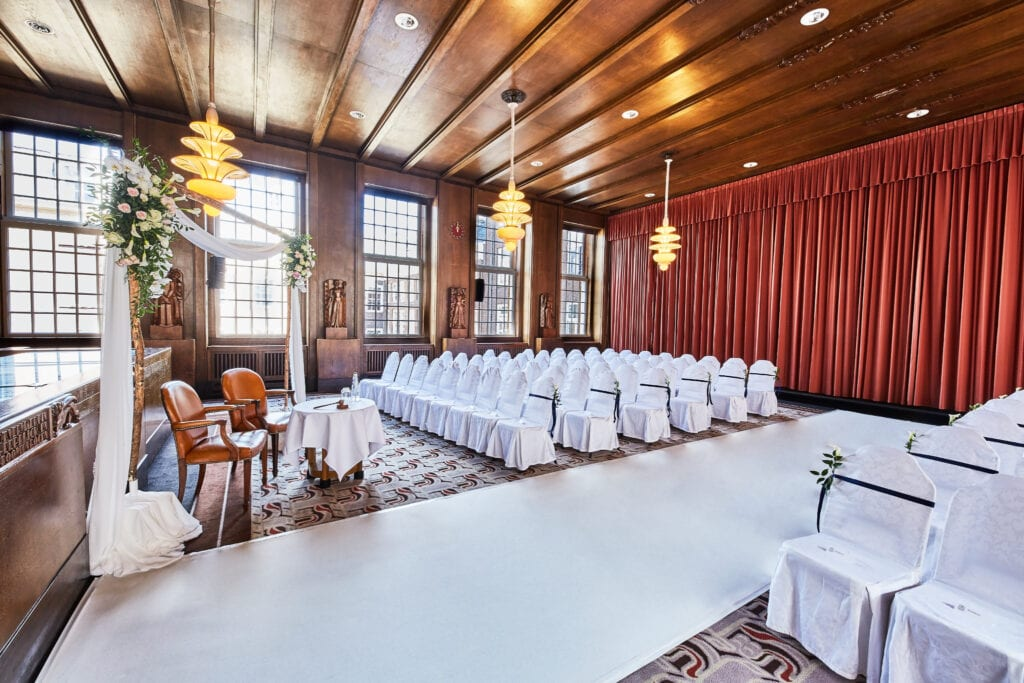Waterfront wedding venues stunning marriage chamber at Sofitel grand hotel, Amsterdam