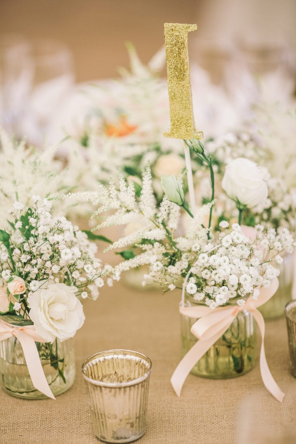 dutch wedding planners numbered centrepiece arrangements and floral table decorations